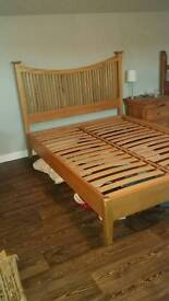 Solid oak double bed frame (sold pending collection)
