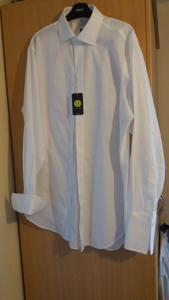 Gents White Double Cuff Shirt