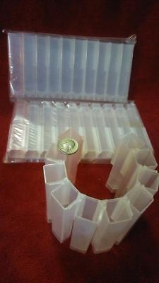 30 Large Free-standing Plastic Test Tubes For General Use Or Fraction Collector