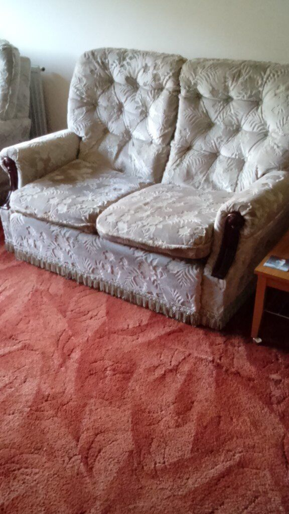 2 Seater Sette and 2 Armchairs - in good condition.
