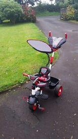 little tykes 4 in 1 trike sports edition red and black excellent condition