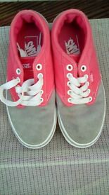 Girls Vans lace up plimsoles type