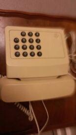 Retro Cream phone from 1970/80 push button working £15