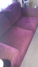 2 seater sofa bed and 2 seater sofa