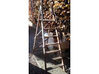 Vintage Wooden Step Ladder.