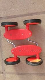 Excellent at keeping your balance whilst pedalling ? But its not a bike Its like a skate board!