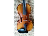 Brand new 3/4 size Vivaldi Violin includes luxury case, bow and roisin