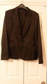Ladies Tommy Hilfiger Ladies Black Satin Evening Jacket Size 18