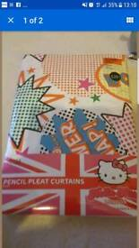 hello kitty curtains brand new