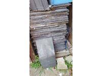 Welsh slate roof tiles