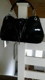 Black zip handbag