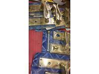 Solid brass door handles. Job lot of 5