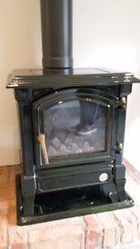 Cast Iron Gas Stove Fire