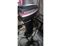 55hp Outboard all controls and electrics