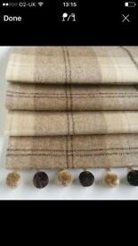 Roman Blind in Natural Tweed 139x62