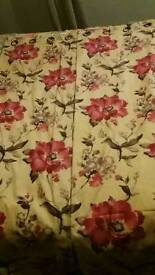 """Lined eyelet 45"""" by 90"""" flower curtains"""