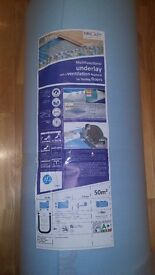 Multifunctional underlay for floating floors with ventilation features