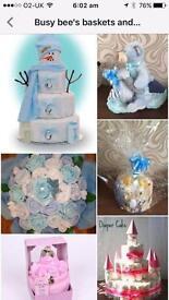 Nappy cakes.