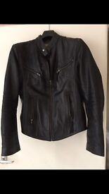 Ladies classic bulk leather bikers jacket