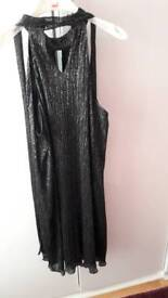Dress black & silver