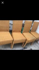 Bamboo chairs Good condition very comfortable