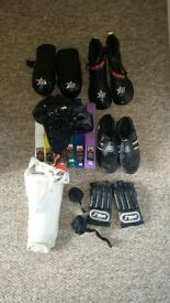 Martial arts MMA Sparring kit and belts. M/L