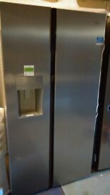 BEKO silver American fridge freezer, with water and ice dispenser, new Ex display