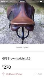 GFS Brown leather saddle 17.5