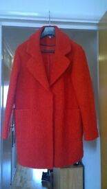 Red 1960's style coat (size 12) - Red Herring. Excellent condition.