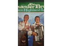 Alexander Brothers LP Two Highland Lads, SIGNED.