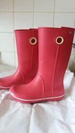 CROC - Hot pink wellington boots size 6