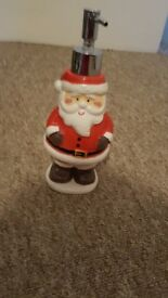 Santa bathroom soap dispenser