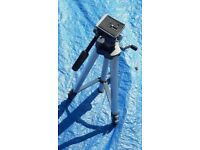 Camera tripod in good order fits most cameras fully adjustable