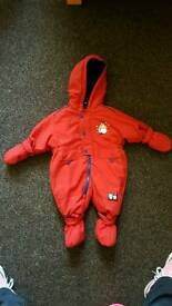 Brand new unisex 6-12 months Christmas snowsuit