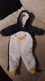Baby snowsuit Penguin 3-6 mths from Next
