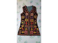 Vintage Pathani Style Long Waistcoat fully lined