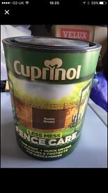 5 Litre tubs of Cuprinol fence treatment