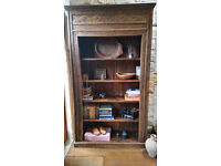 Large ethnic bookcase - amazing carved piece in dark wood with characterful imperfections