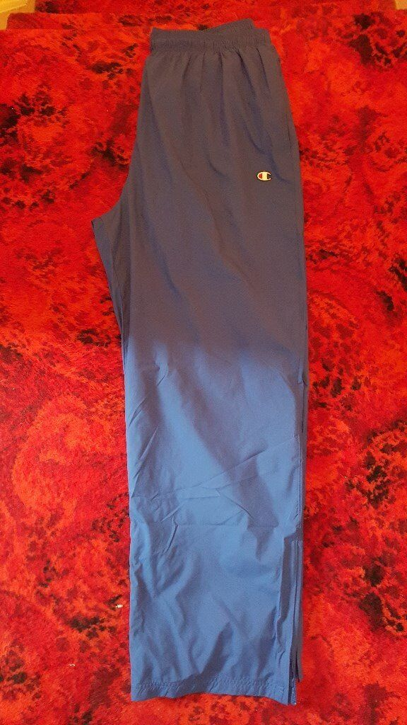 Mens Champion Blue Wide Leg Lightweight Tracksuit Trouser - Size XL