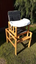 Multi use highchair/kids table & chair