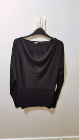 **BRAND NEW WITH LABELS** Womens size 10 black cowl neck top from ASOS