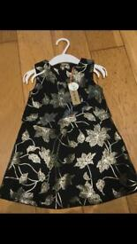 BNWT River Island girls dress 9-12months