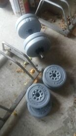 Weights and bar for sale