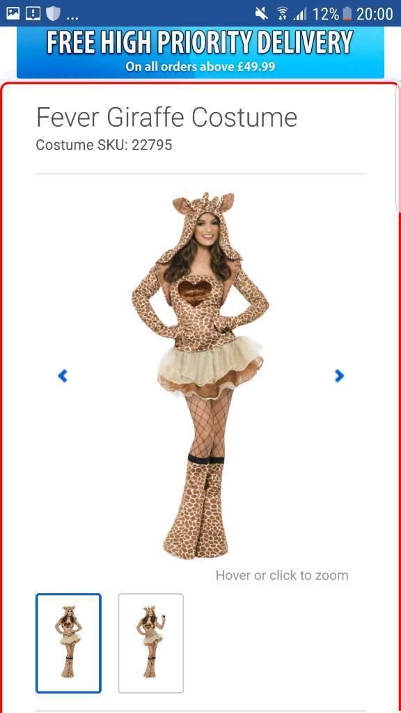 Giraffe fancy dress outfit