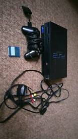 PS2 Console + 4Games + 1 Pad + 8gb Memory