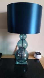 Table Lamp - Teal / Glass