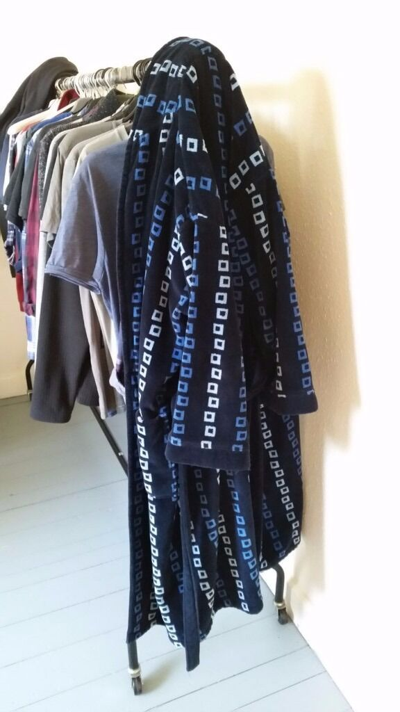 Mens long dressing gown, by \