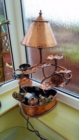 Copper cascading fountain lamp from Malaysian. Bargain at £15!