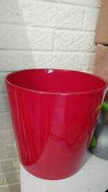 Red Ceramic Indoor Plant Pot