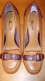 Next ladies block heel court shoes.